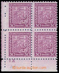 80980 - 1929 Pof.252x, Znak 30h, průsvitný papír, dolní rohový