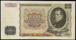 80987 - 1939 SLOVENSKO  Ba.45, 1000Kč Palacký, fialový přetisk,