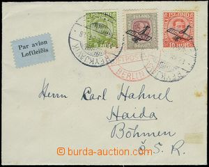 80988 - 1931 airmail letter with Mi.99 + air-mail Mi.122-23, CDS Rey