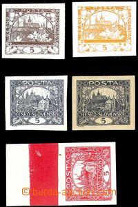 80991 -  trial print 5h in both kresbách knihtiskem, drawing a) on