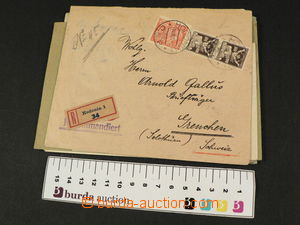 81001 - 1921-26 CZECHOSLOVAKIA 1918-39  selection of  8 pcs of lette