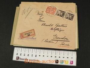 81001 - 1921-26 ČSR I.  sestava  8ks dopisů do Švýcarska, z toho