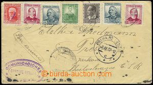 81043 - 1937 SPAIN / INTERNATIONAL BRIGADES  Reg and airmail letter