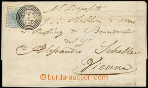 81070 - 1852 letter to Vienna with Mi.5, 45Cmi blue, CDS MILAN 9/1,