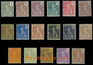 81128 - 1904 Mi.24-40, Výplatní, série 17 ks, stopy po nálepkách, vp