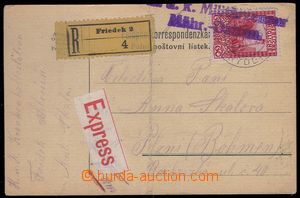 81154 - 1915 R+Ex lístek PP vyfr. zn. Mi.151, DR FRÝDEK 20.IX.15,