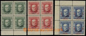 81175 - 1925 Pof.180-182 Olympic Congress, in blocks of four, values