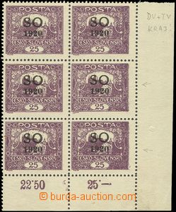 81182 -  Pof.SO8C, 25h violet, line perforation 11¾;, LR corner