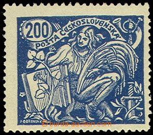 81190 -  Pof.174B III.typ, 200h modrá, zk. Mr, kat. 2000Kč