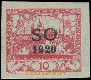 81194 -  Pof.SO(4)N, unissued 10h red, black Opt, exp. by Pittermann