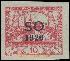 81194 -  Pof.SO(4)N, nevydaná 10h červená, černý přetisk, zk.