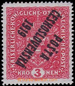 81205 -  Pof.49b Pp, 3K Znak, žilkovaný papír, převrácený pře