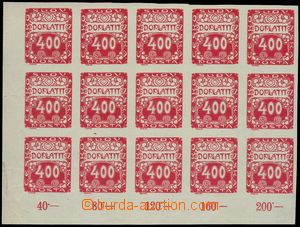 81215 - 1919 Pof.DL11, Ornament 400h red, L the bottom corner blk-of