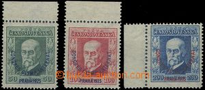 81220 -  Pof.180-182. Olympic Congress, all stamp. marginal, P6, 8,