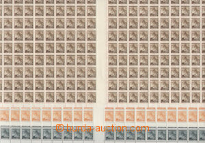 81271 - 1939 Pof.20-27, Linden Leaves (recess printing), selection o