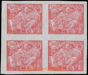 81344 -  Pof.166N, 300h red, print on gummed side, on/for front side