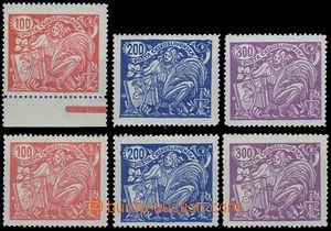 81357 -  Pof.173-175A+B, complete set of type III., lightly hinged,