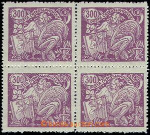 81360 -  Pof.175A II. typ, 300h fialová, 4-blok, nečistá vodorovn