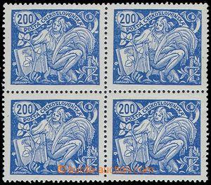 81361 -  Pof.174B T II., 200h blue, block of four, exp. by Karasek