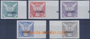 81368 - 1918 Pof.NV1-6 vz, complete set of values with overprint Vzo