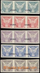81370 - 1918 Pof.NV1-6 vz, 3-pásky s přetiskem VZOREC, velmi lehk�