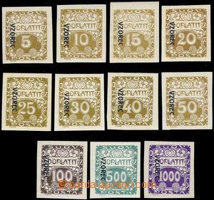 81374 - 1919 Pof.DL1-13vz, Ornamet, kompletní řada s přetiskem VZ