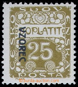 81376 - 1919 DL5vz, Postage due stmp - ornaments 25h, line perforati