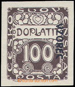 81379 - 1919 Pof.DL9vz, 100h s přetiskem VZOREC vpravo dolů, bez p