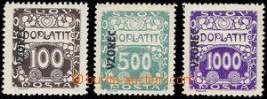 81384 - 1919 Pof.DL9vz + DL12vz + DL13vz, kompletní řada s přetis