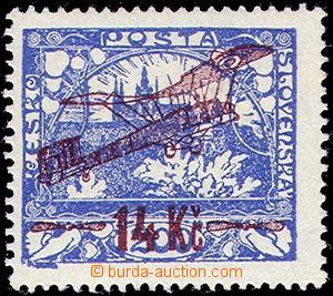 81397 - 1920 Pof.L1B, I. emise, 14Kč/200h, luxusní, zk. Hir, Tri,