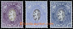 81404 - 1919 ZT zn. Lvíček Pof.PP5, ve fialové, světle modré a