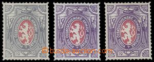 81405 - 1919 ZT zn. Lvíček Pof.PP5, ve fialové 2x a šedé barvě