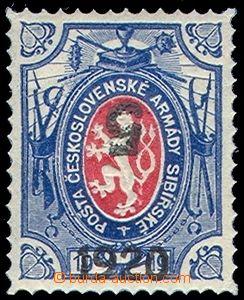 81408 - 1919 Pof.PP9, 5k/1R, převrácený přetisk zelené hodnotov