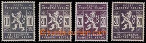 81412 - 1918 ZT hodnoty 10h v olivové barvě + 3ks 20h ve fialové