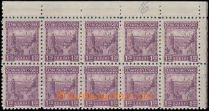 81431 - 1926 Pof.213 P6, Castles 1,20CZK Strahov, UR corner blk-of-1