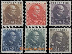 81474 - 1930 Mi.512-517, Wilhelm Miklas, c.v.. 150€