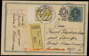 81476 - 1919 CDV1a, double overprint, uprated to Registered with sta