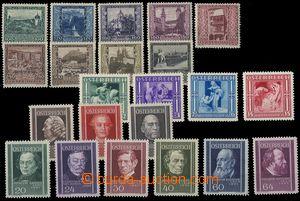 81478 - 1923-37 Mi.433-441, Města, 628-631, Zimní pomoc, 649-657,