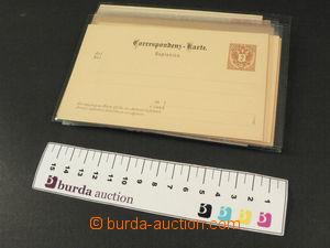 81500 - 1883 AUSTRIA  selection of 24 pcs of p.stat, 10x double, 8x