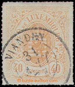 81511 - 1871 Mi.23 b, Znak 40C oranžová, DR VIANDEN, kat. 100€