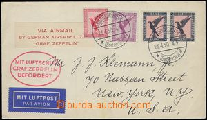 81518 - 1930 air-mail letter to USA, with Mi.378 2x + 379 + A379, CD