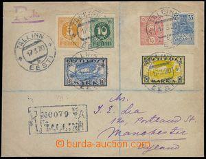 81524 - 1920 R dopis do Londýna, vyfr. zn. Mi.6 + 7 + 9 + 10 + 12 +