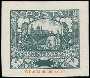 81525 -  PLATE PROOF without value, full plate, green color, chalky