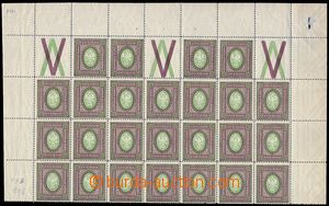 81570 - 1910 Mi.127B, perf 12½;, half-sheet (blk-of-25) this st