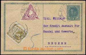 81582 - 1919 CPŘ 3, dopisnice Karel 8h dofr. spěšnou rak. trojuhe