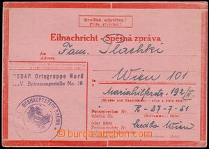 81593 - 1944 stationery Express Card No.1 type IIa, Express stamp me
