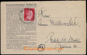 81605 - 1944 C.C. DACHAU  folded letter to Prague, with A. Hitler 12