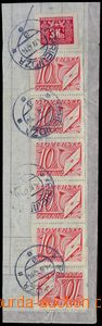 81617 - 1947 cut square from Zúčtovacího sheet with mixed frankin