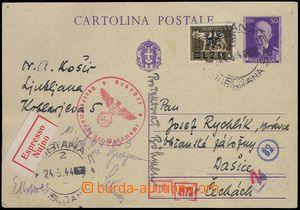 81631 - 1944 ITALIAN OCCUPATION LAIBACH  Italian p.stat 50cent Victo