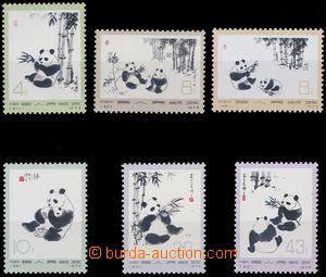 81648 - 1973 Mi.1126-1131, Giant Panda, c.v.. 200€